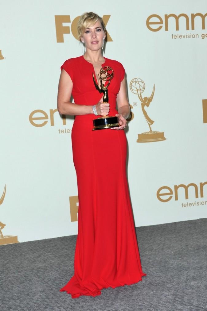 Kate Winslet lors de la cérémonie des Emmy Awards 2011, le 18 septembre 2011 à Los Angeles.