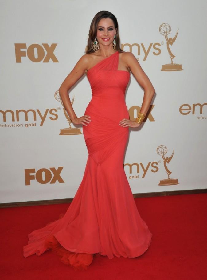 Sofia Vergara lors de la cérémonie des Emmy Awards 2011, le 18 septembre 2011 à Los Angeles.