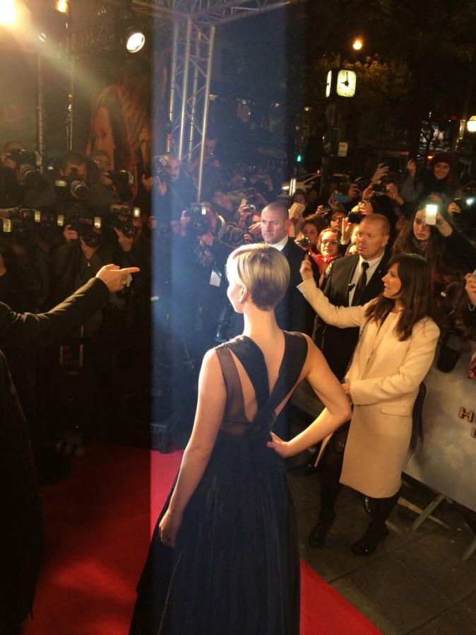 Jennifer Lawrence le 15 novembre au Grand Rex, Paris, pour l'avant-première de Hunger Games 2