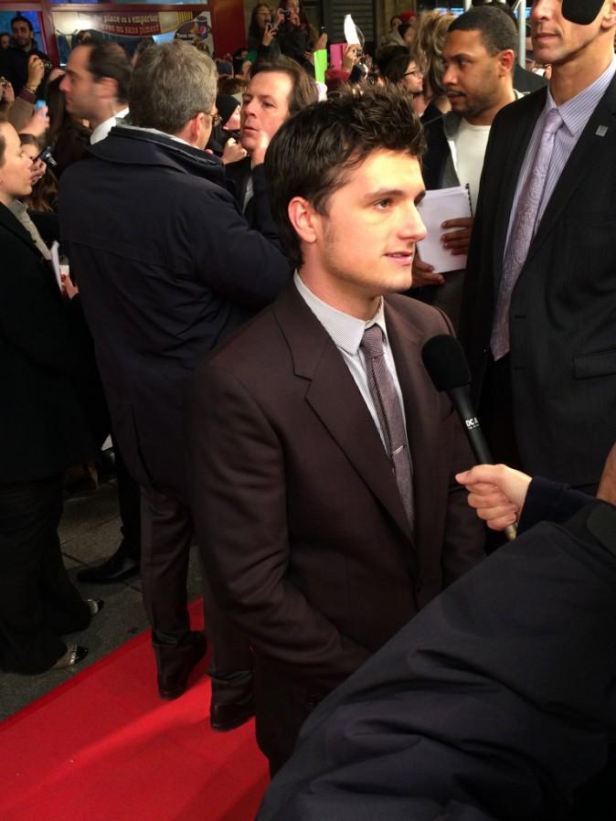 Josh Hutcherson le 15 novembre au Grand Rex, Paris, pour l'avant-première de Hunger Games 2