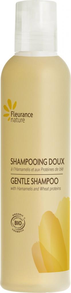 Shampooing doux, hamamélis et protéines de blé, Fleurance Nature 9,90€