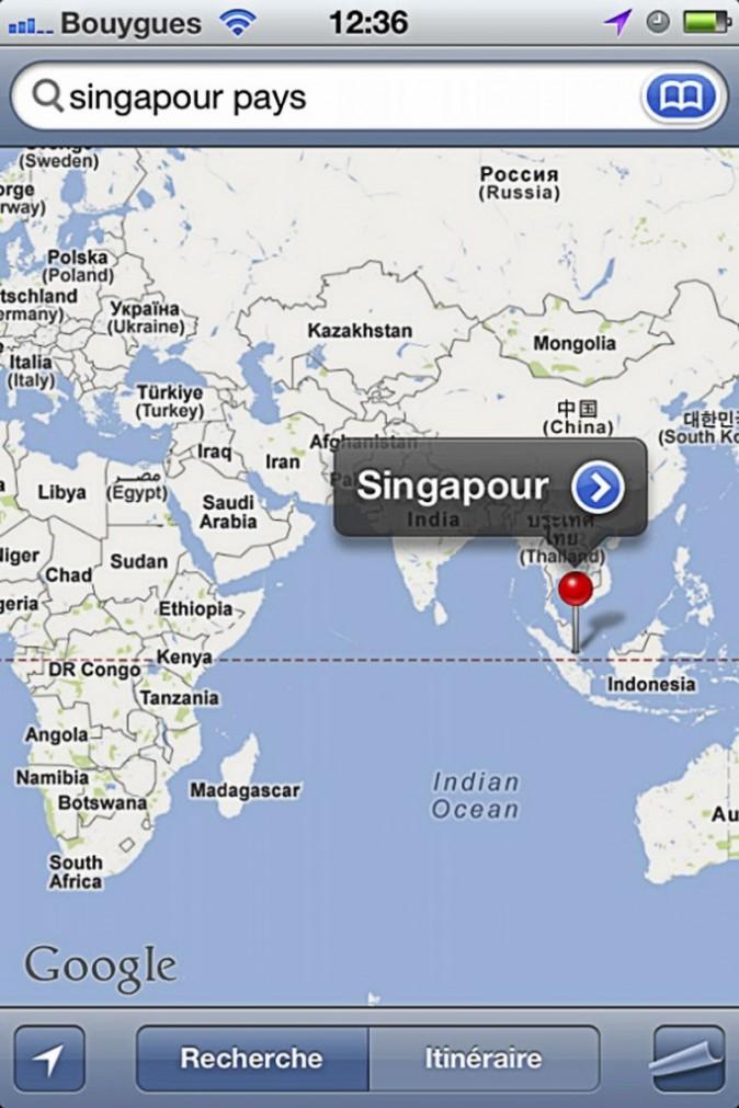 La dernière destination qu'elle a cherchée sur Google Maps ?