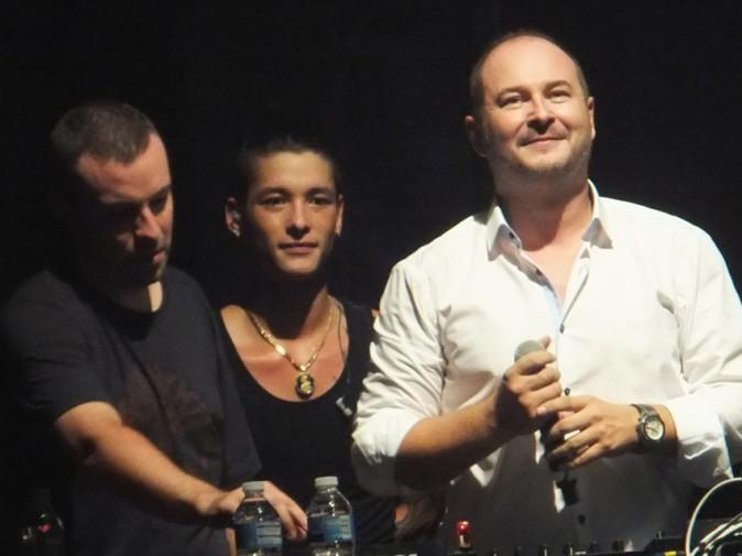 Cauet au concert de Keen'V au Bataclan, le 17 octobre 2013
