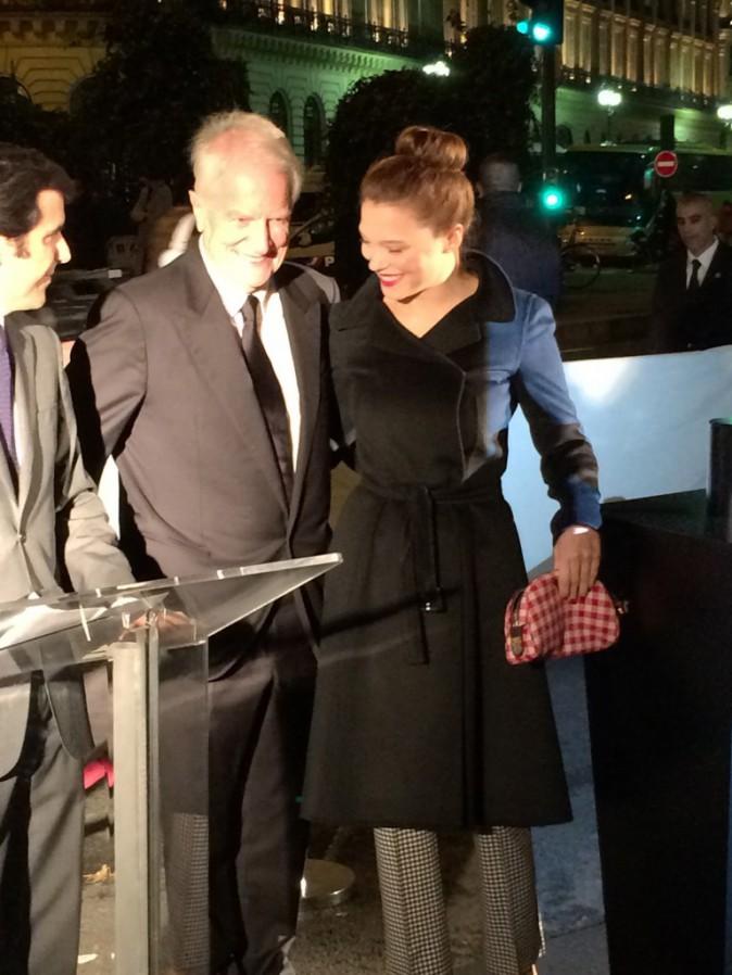 Exclu Public: Léa Seydoux et André Dussollier: Public était avec eux pour le coup d'envoi des vitrines de Noël des Galeries Lafayette!