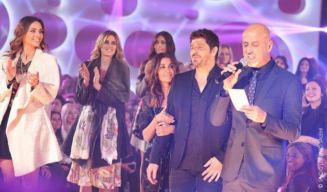 Marine Lorphelin, Jenifer, Patrick Fiori et Camille Cerf lors de la 8e édition du Casa Fashion Show