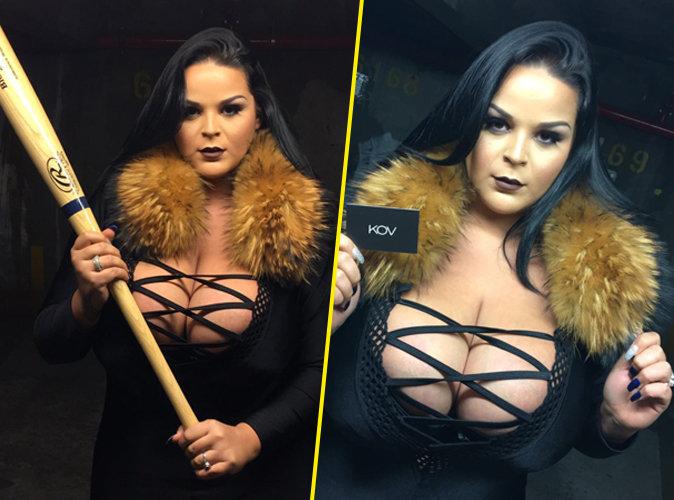 Sarah (Les Anges 8) : un shooting dark et sexy pour sa marque de vêtements
