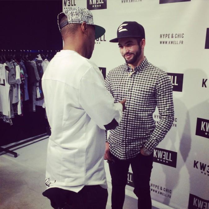 Exclu Public : Photos : Soprano séduit avec sa nouvelle marque KWELL, Kendji Girac déjà fan !