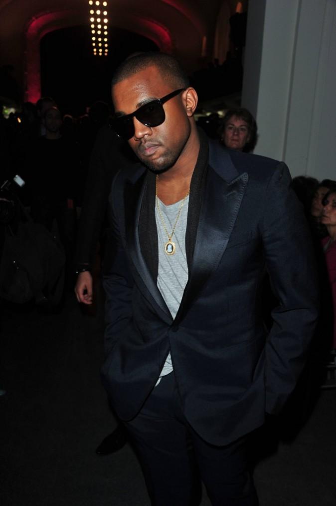 Kanye West au défilé Jean Paul Gaultier