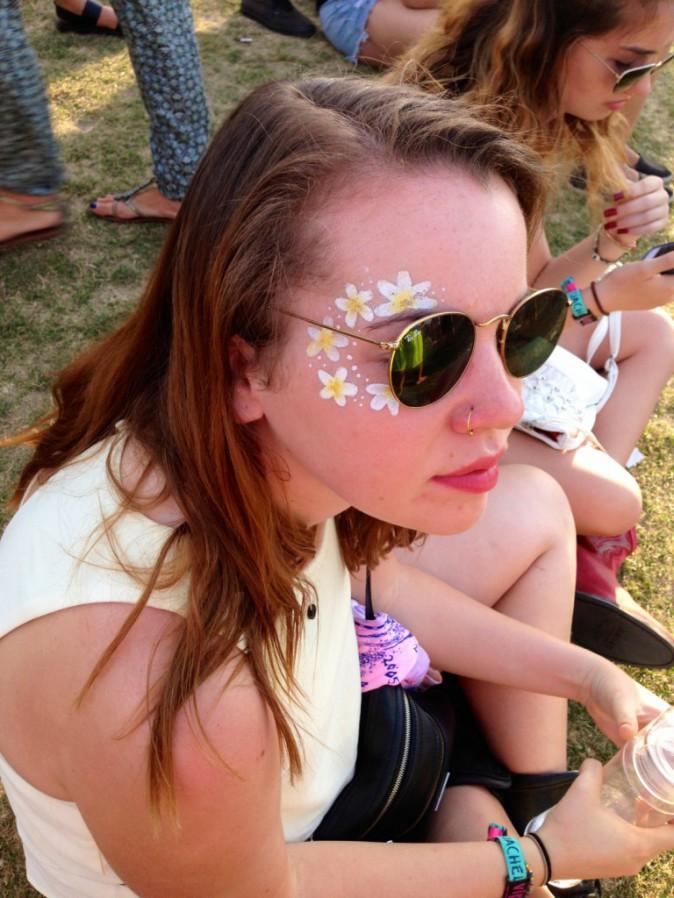 Make up flower power - Coachella JOUR 2