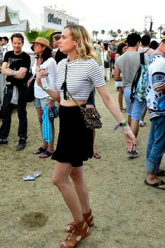 Première tête connue croisée : Diane Kruger - Coachella Jour 1