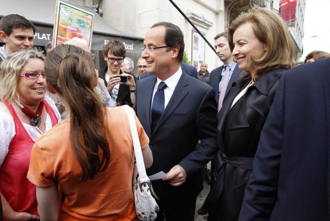 François Hollande et Valérie Trierweiler le 9 juin 2012