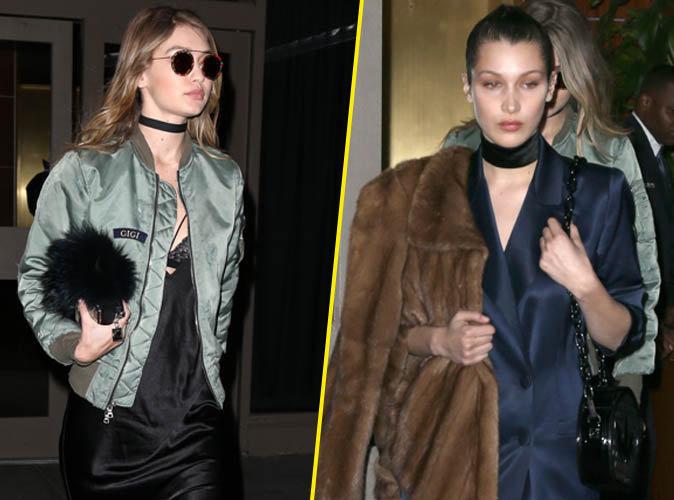 """Gigi et Bella Hadid : ravissantes en soie d'orient pour le défilé """"Yeezy Season 3"""""""
