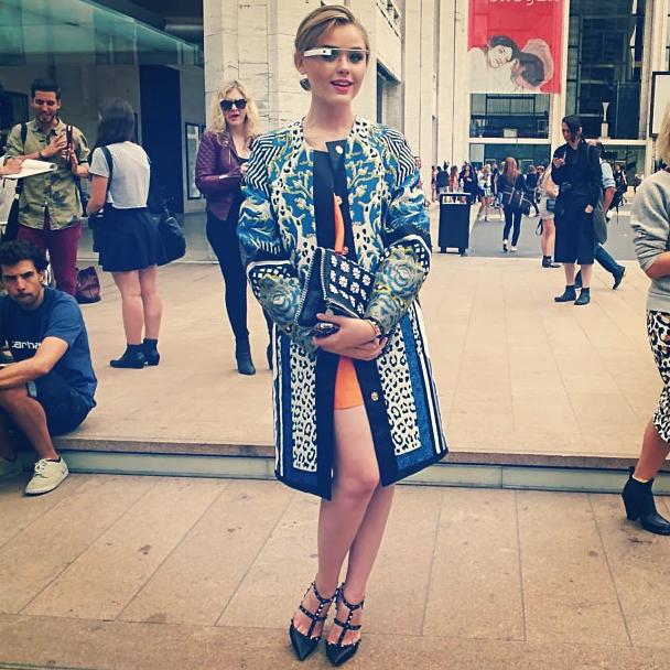 Kristina Bazan à la Fashion Week de New York avec les Google Glass