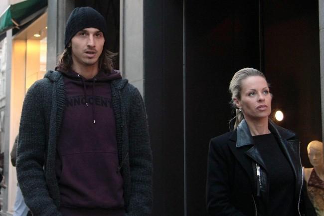 22 janvier 2009 : Zlatan et Helena en plein shopping à Milan