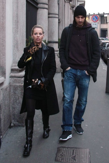 22 juin 2009 : Zlatan et Helena en plein shopping à Milan