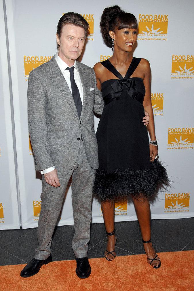 David Bowie et Iman assistent à un diner à New York pour les Can-Do Awards, le 23 avril 2007.
