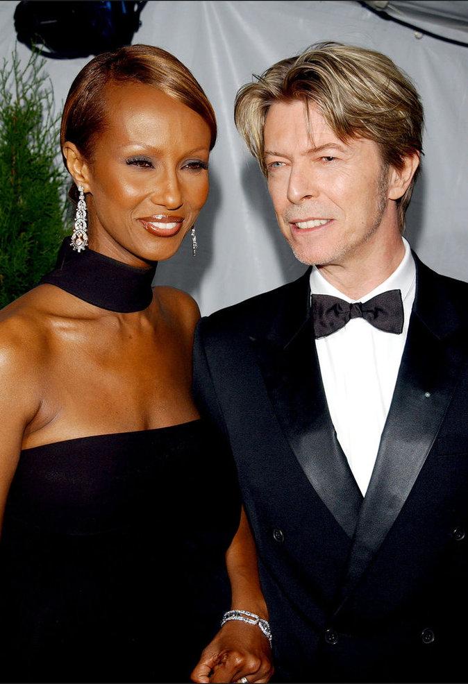 David Bowie et sa femme Iman aux American Fashion Awards 2002