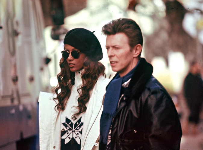 David et Iman Bowie à Gstaad