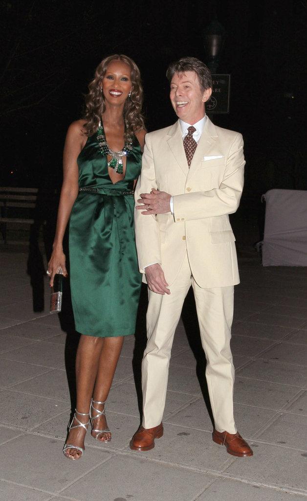 Iman et David Bowie arrivent à la fête donnée par Vanity Fair en marge du Festival du film de Tribeca Film, le 24 avril 2007.