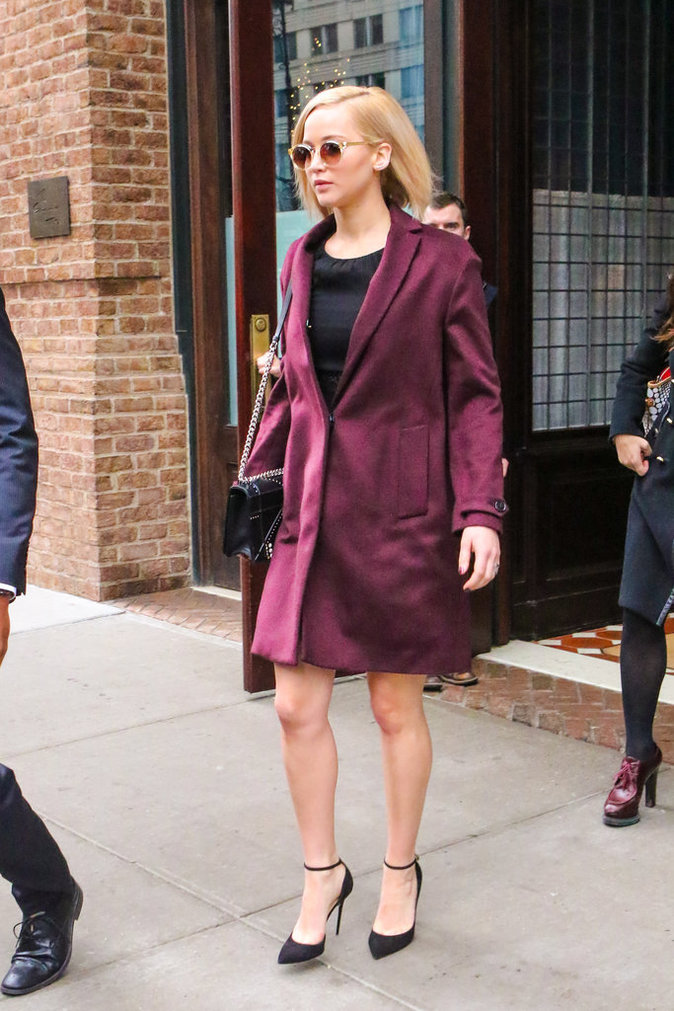 Jennifer Lawrence : sexy pour se rendre au Late Show de Stephen Colbert
