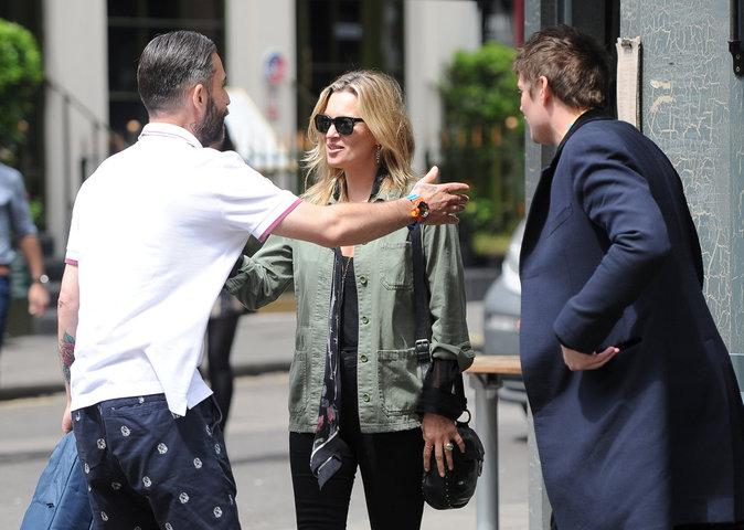 Photos : Kate Moss et Nikolai Von Bismarck à Londres, le 15 juin 2016