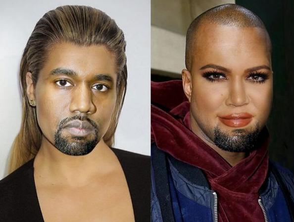 Khloe Kardashian a échangé son visage avec celui de Kanye West !