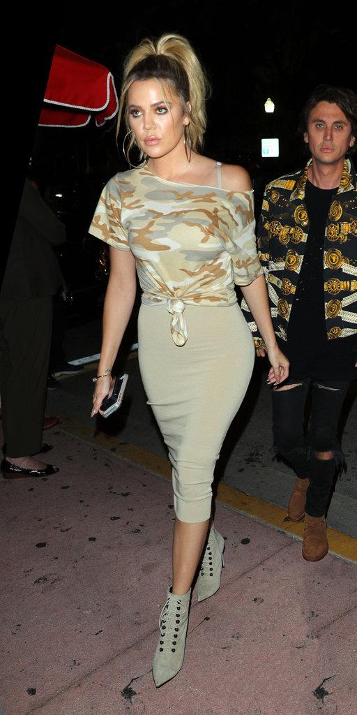 Khloe Kardashian se rend au concert de Kanye West à Miami