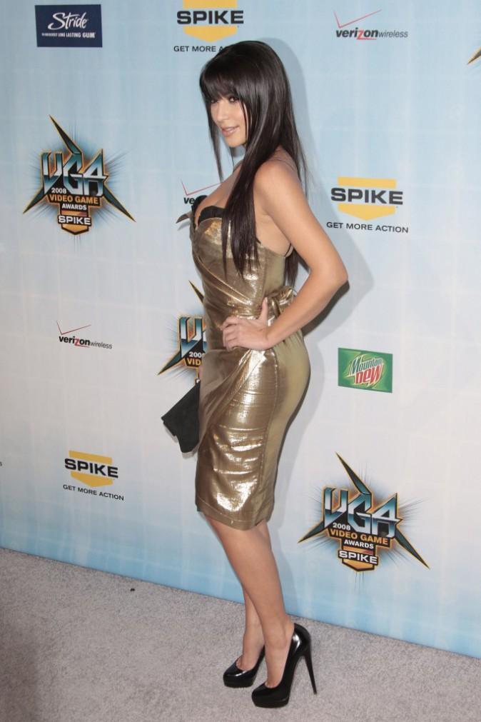 Kim Kardashian en décembre 2008.