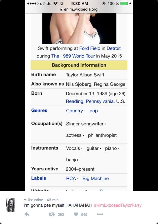 "Taylor Swift rebaptisée Regina George, la pompom girl méchante de ""Lolita Malgré Moi"""