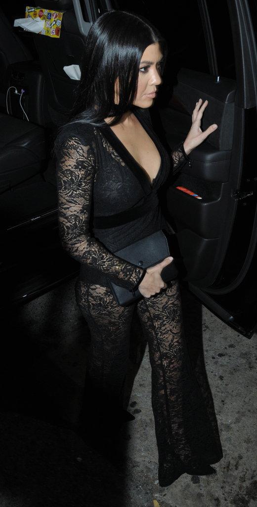 Kourtney Kardashian est allée à la soirée privée de Justin Bieber