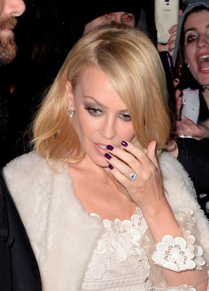 la bague de fiancailles de Kylie minogue