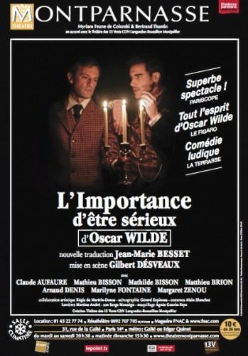 L'importance d'être sérieux. Oscar Wilde