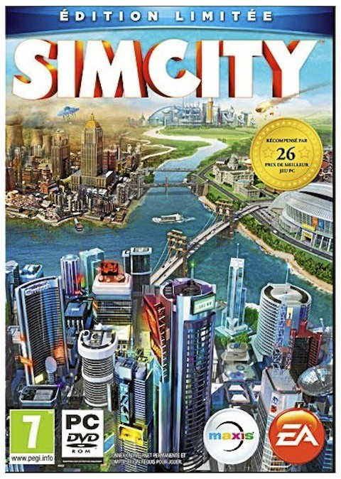 SimCity, édition collector, Electronic Arts, sur PC. 59 €.