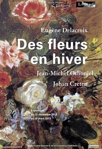 Des fleurs en hiver, expo provisoire au musée Delacroix, 6, rue de Furstenberg, Paris 6e. 7 €.