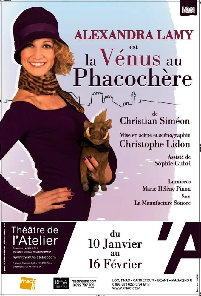 La Vénus au phacochère.  Théâtre de l'Atelier, 1, place Charles-Dullin, Paris 18e, jusqu'au 16 février. À partir de 19 € sur fnacspectac...