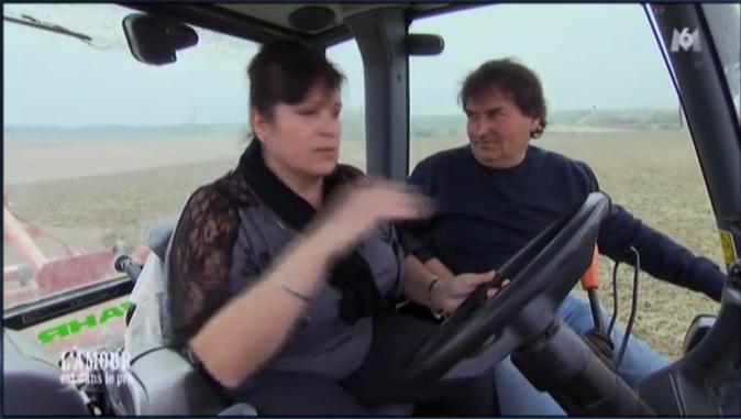 Balade en tracteur aussi pour Michel avec Sandrine...