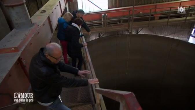 Oups, Bernard a le vertige à 30 m de haut au dessus des silos !