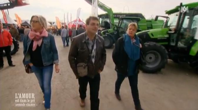 Philippe l'Auvergnat avec Muriel et Sabine sur une foire agricole