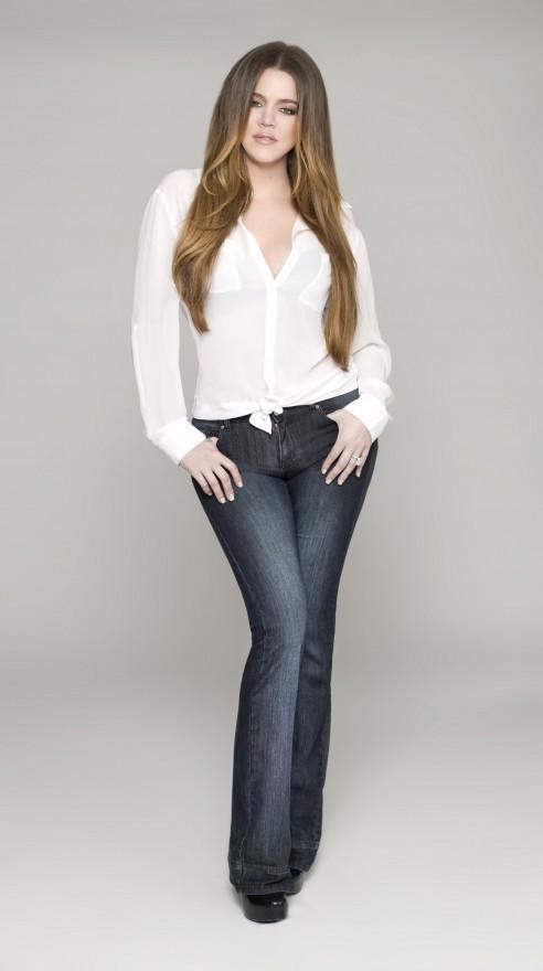 Khloe Kardashian pour la ligne de jeans Kardashian Kollection denim.