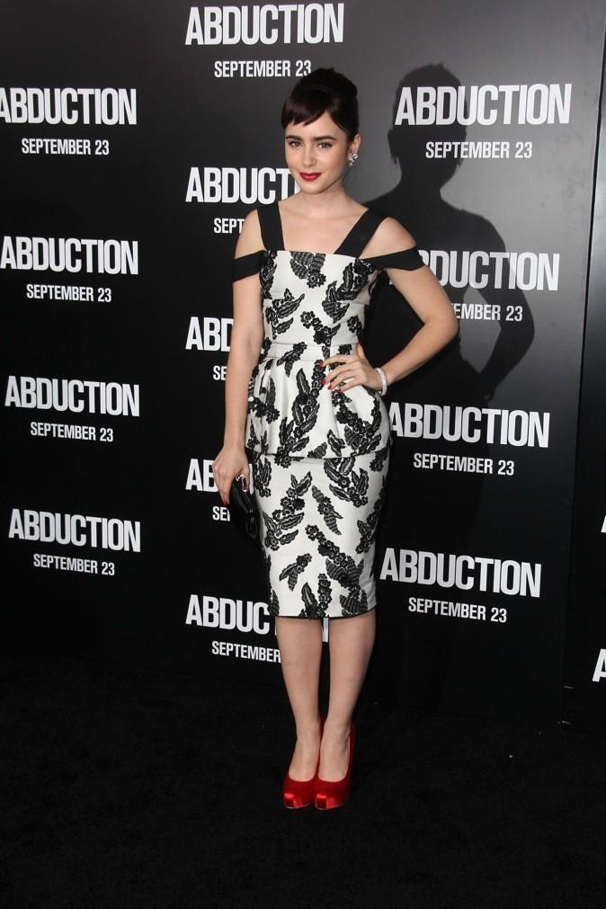 Lily Collins à l'avant première d'Abduction !