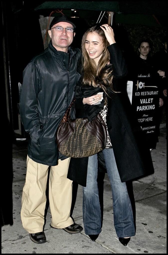 Lily Collins et son papa Phil Collins !