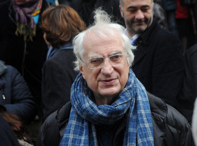 Bertrand Tavernier assiste aux obsèques de Michel Galabru, le 12 janvier 2016 à Paris