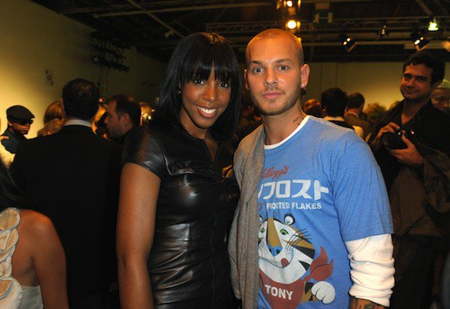 Avec Klly Rowland pendant la Fashion Week de Paris, en 2010