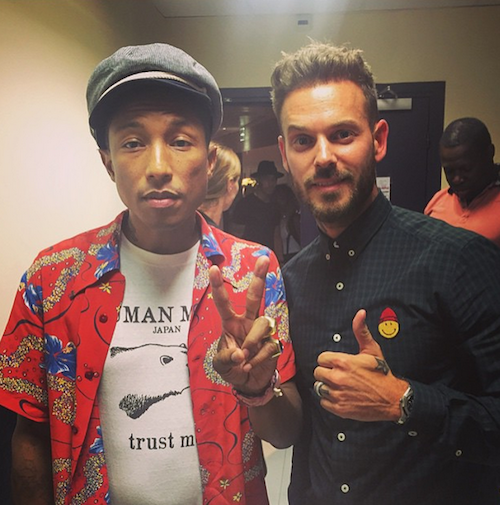 M. Pokora sur Instagram, avec Pharrell Williams