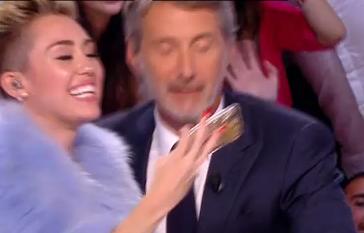 Miley Cyrus et Antoine de Caunes