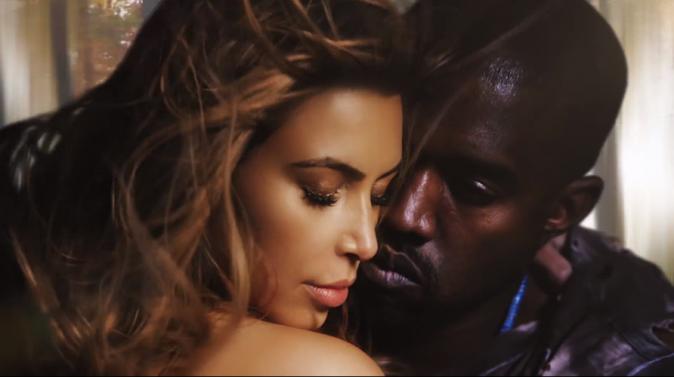 """Couples stars en vidéo : Kim Kardashian et Kanye West avec le titre """"Bound 2"""""""