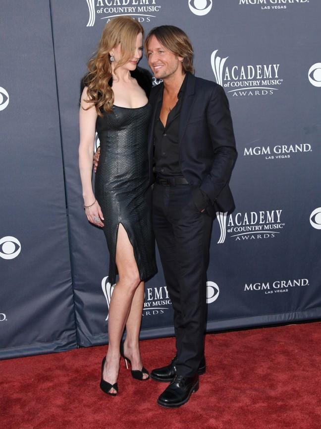 Nicole Kidman et Keith Urban lors de la 46e cérémonie annuelle des Academy of Country Music Awards à Las Vegas, le 3 avril 2011.