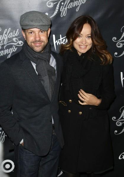 Olivia Wilde et Jason Sudeikis lors de la première du musical Breakfast at Tiffany's à New york, le 20 mars 2013.