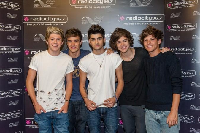 Les One Direction le 22 juillet 2012 à Liverpool