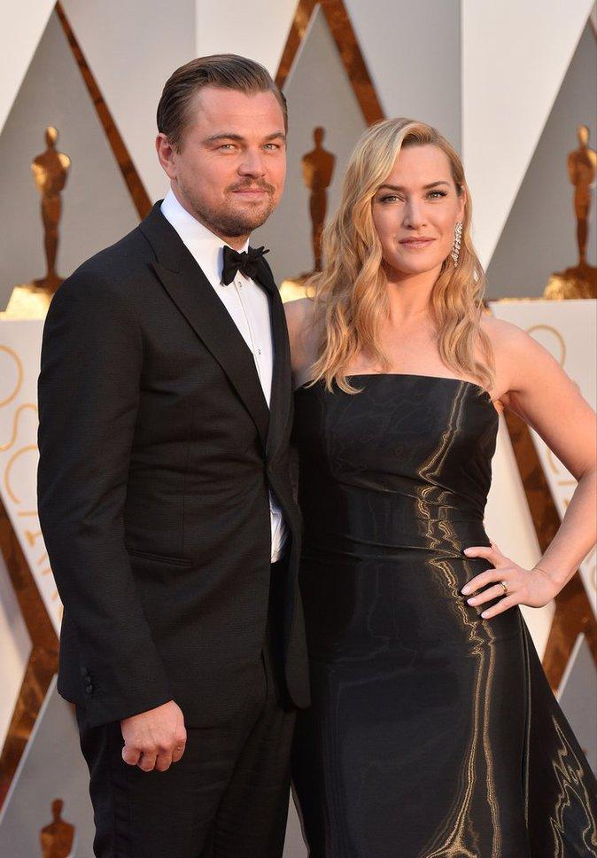 Leonardo Dicaprio et Kate Winslet, glamour aux Oscars 2016